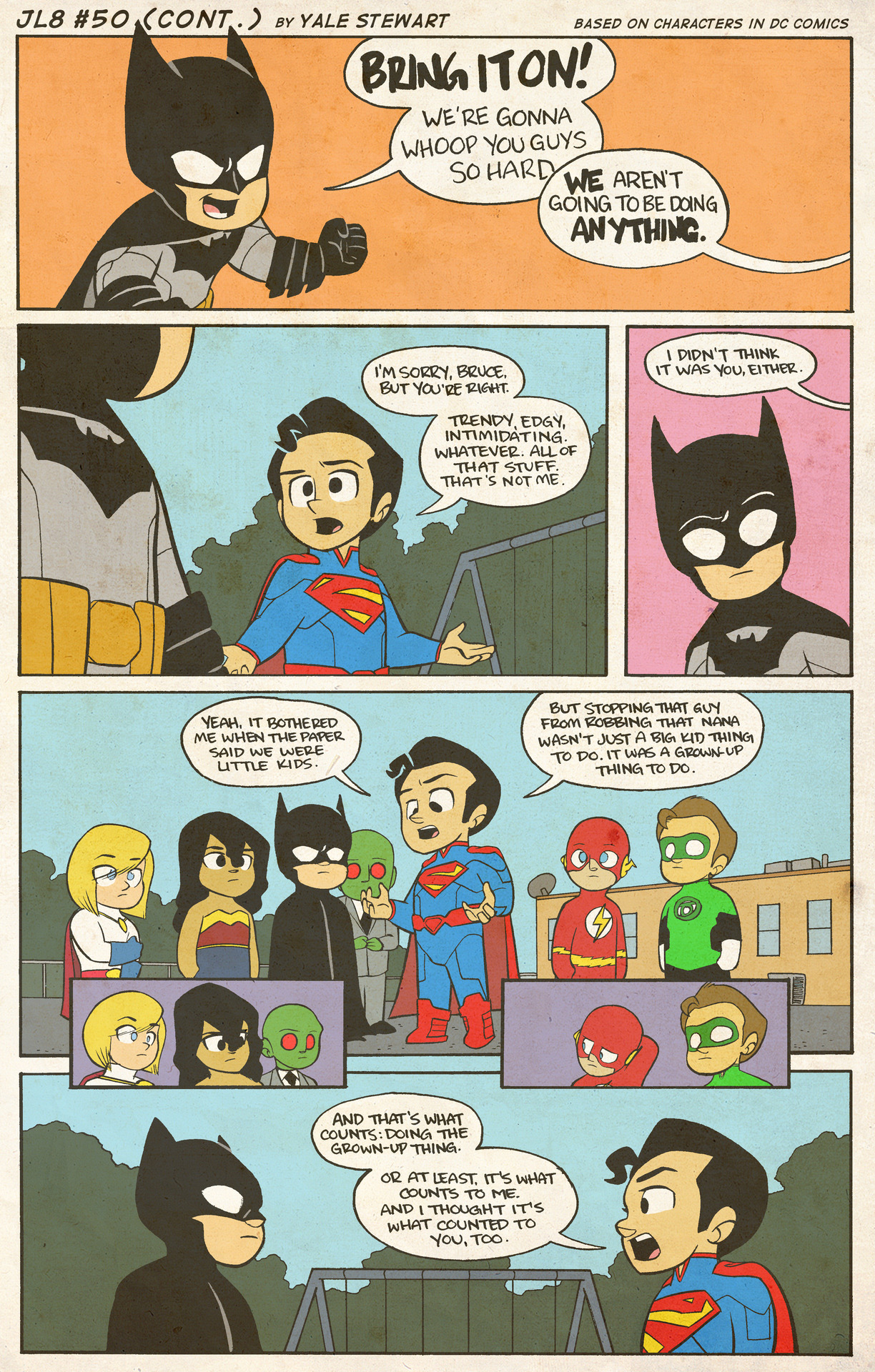Justice League Comic Strip TORN 2-Sided Sublimated All ... |Justice League Comic Strip